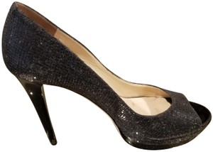 JIMMY CHOO BLACK GLITTER Platforms
