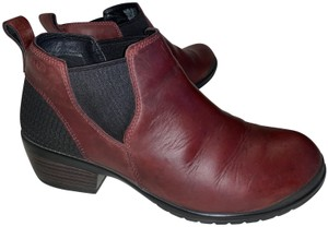 Keen 9wide Leather burgundy Boots