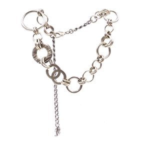 Chanel CC XL wide Chains rings charm gold crystals necklace Choker
