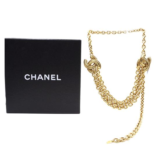Chanel RARE Quilted CC double charm CC chain long gold necklace belt two way Image 2