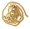 Chanel RARE Quilted CC double charm CC chain long gold necklace belt two way Image 5