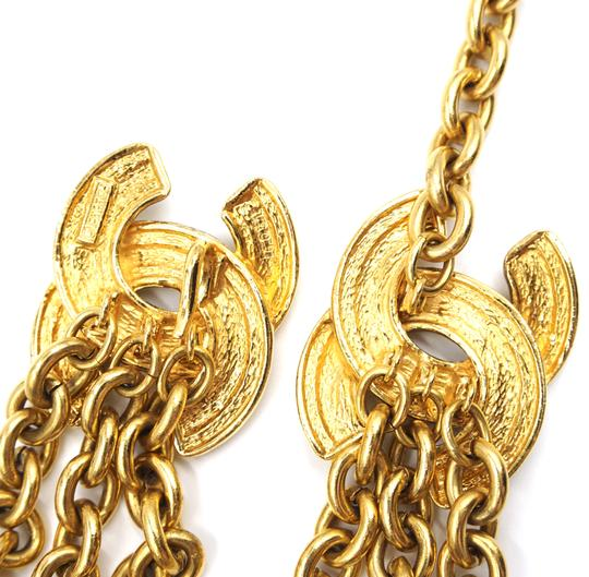 Chanel RARE Quilted CC double charm CC chain long gold necklace belt two way Image 7