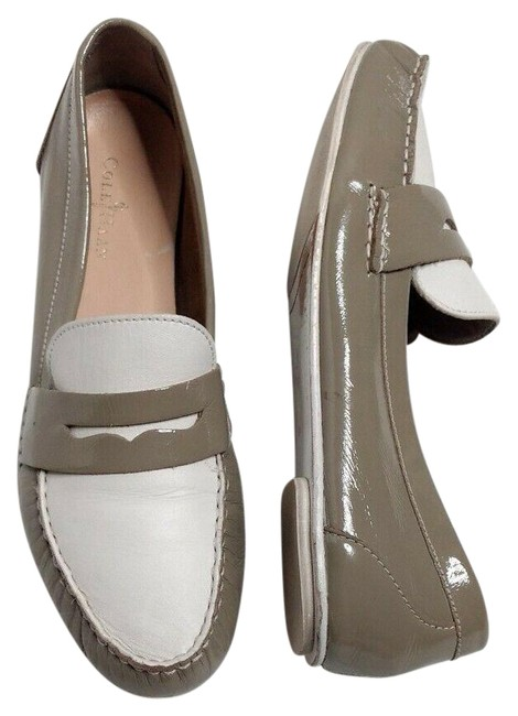 Item - Gray Penny Loafers Two Toned Slip On Classic Flats Size US 8.5 Regular (M, B)