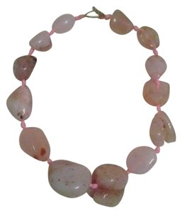 Other BIg Chunky Rose Quartz Statement Necklace