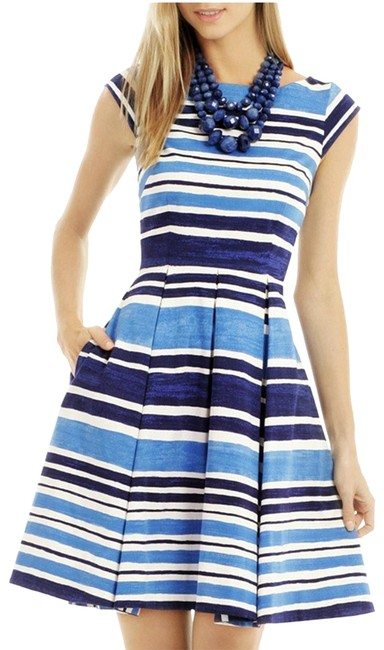 Item - Blue and White Mariella In French Navy Mid-length Short Casual Dress Size 2 (XS)