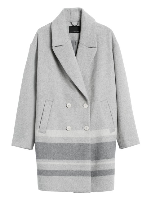 Item - Grey Cocoon Double-face In Heather Coat Size 12 (L)