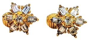 Christian Dior CD Christian Dior Snowflake Clear Crystal / Gold plated metal Earrings