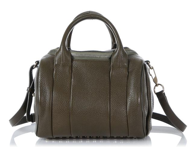 Alexander Wang Duffle Rockie Olive Green Leather Satchel Alexander Wang Duffle Rockie Olive Green Leather Satchel Image 1