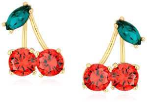 Kate Spade KATE SPADE Ma Cherie Cherry Red Crystal Stud Earrings
