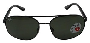 Ray-Ban Polarized Lens & Black Frame RB3593 002/9A Unisex Square Sunglasses