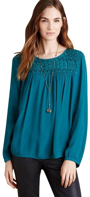 Item - Blue Green Blouse Size 4 (S)