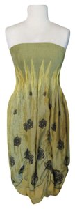 mustard yellow Maxi Dress by Lapis Boho Strapless