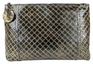 Bottega Veneta Leather Women's Pouch / Gold / Black Clutch