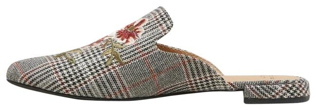 Item - Gray Women's Eve Plaid Embroidered Backless Mules/Slides Size US 6.5 Regular (M, B)