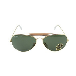 Ray-Ban Lens & Gold Frame RB3029 L2112 62 Unisex Outdoorsman II Sunglasses