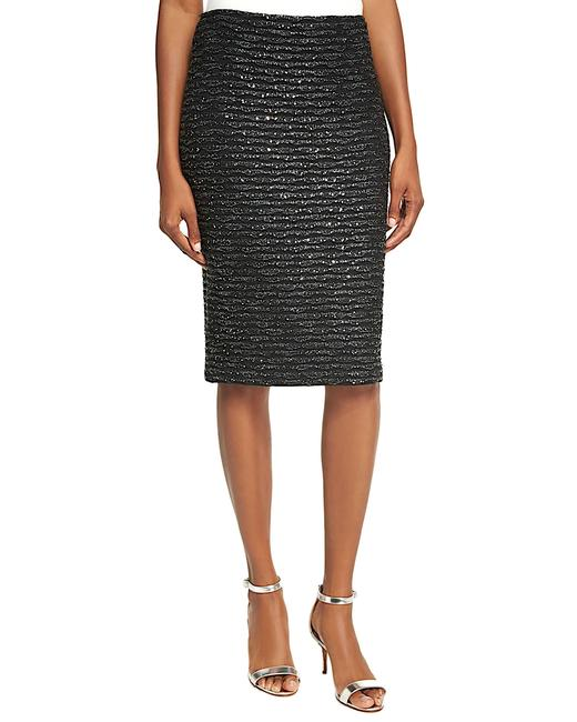 Item - Black/Silver with Tag Women's Sparkle Wave Tweed Pencil Skirt Size 8 (M, 29, 30)