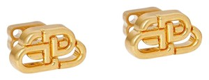 Balenciaga BB gold-tone earrings