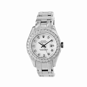 Rolex ROLEX 29MM 18K WHITE PEARLMASTER OYSTER PERPETUAL DIA DIAL & BEZEL