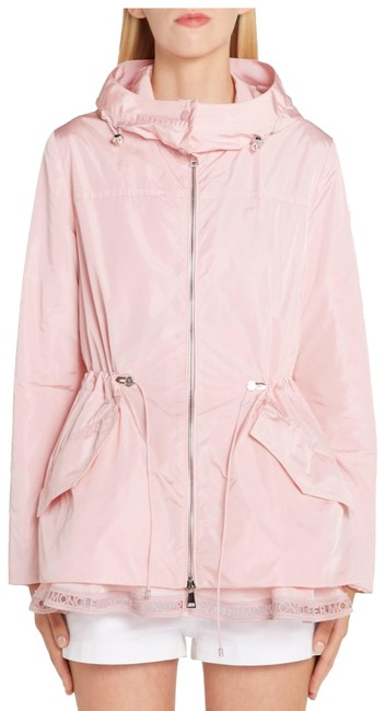 Item - Light Pink Loty Logo-trim Peplum Rain Jacket Size 4 (S)