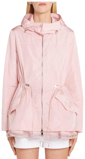 Item - Light Pink Loty Logo-trim Peplum Rain Jacket Size 2 (XS)