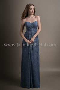Belsoie Amethyst Lace Long Sweetheart Strapless Feminine Bridesmaid/Mob Dress Size 10 (M)