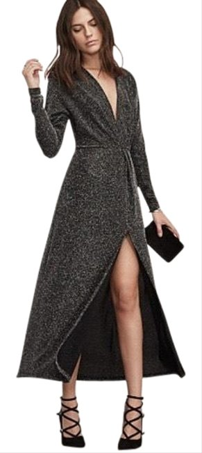 Item - Black / Silver Orion Long Night Out Dress Size 4 (S)