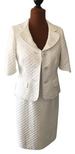 Albert Nipon Winter White Suit Dress and Jacket