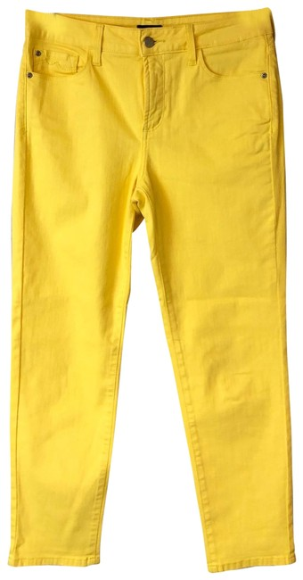 Item - Yellow Stretch Cotton Ankle 6 Straight Leg Jeans Size 30 (6, M)
