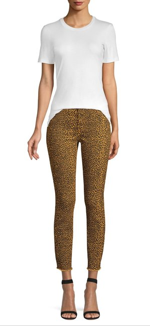 Item - Browns/Black Stiletto Spotted Leopard High Waist Style#18-4-003897-pt1609 Capri/Cropped Jeans Size 26 (2, XS)