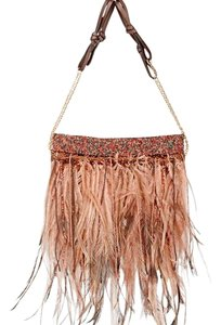 Valentino Feathers brown Clutch