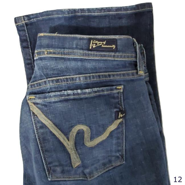 Citizens of Humanity Blue Ingrid #002 Low Waist Flare Leg Jeans Size 31 (6, M) Citizens of Humanity Blue Ingrid #002 Low Waist Flare Leg Jeans Size 31 (6, M) Image 1