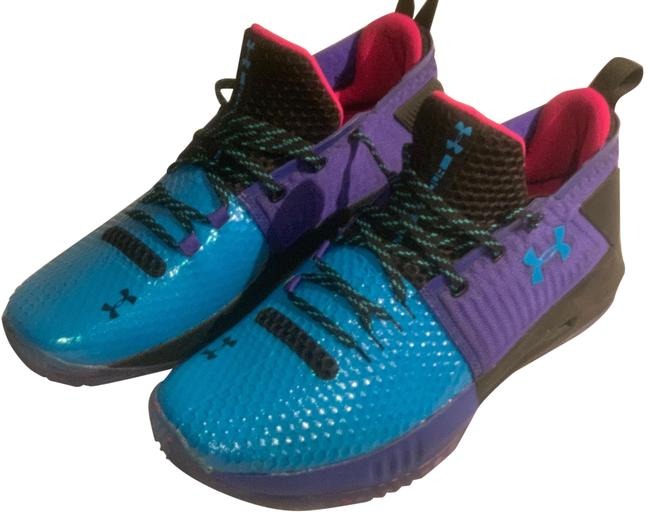 Item - Blue Purple Drive Low 4 Unleash Chaos Team Issued Sneakers Size US 11.5 Regular (M, B)
