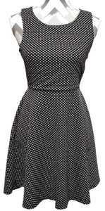 Monteau Los Angeles short dress Black & White Polka Dot Cut Out Keyhole Fit And Flare on Tradesy