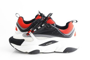 Dior Orange B22 Sneakers Technical Knit and Black Black and White Shoes