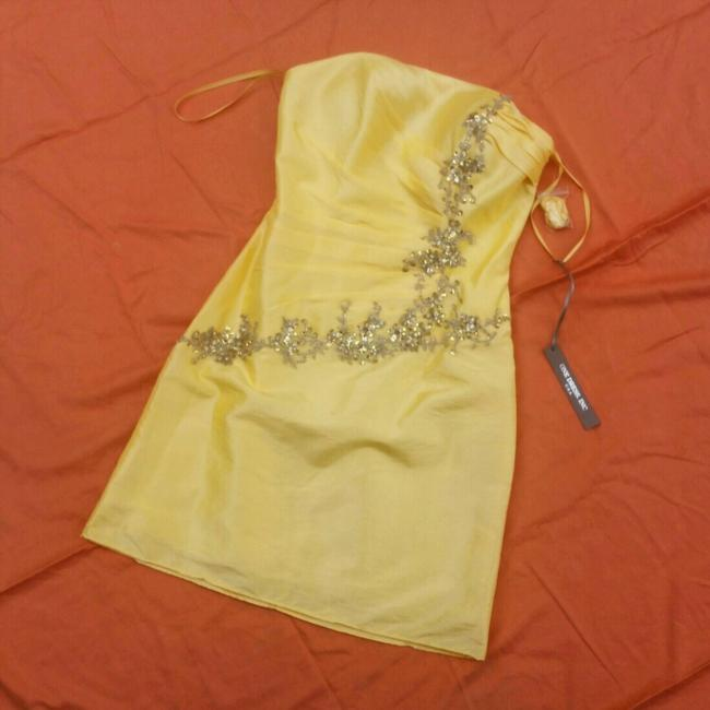 Item - Yellow Couture Short Night Out Dress Size 6 (S)