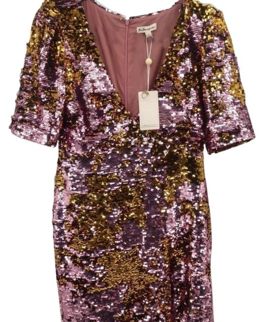 Item - Pink Sequin Short Night Out Dress Size 12 (L)