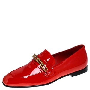 Burberry Patent Leather Red Flats
