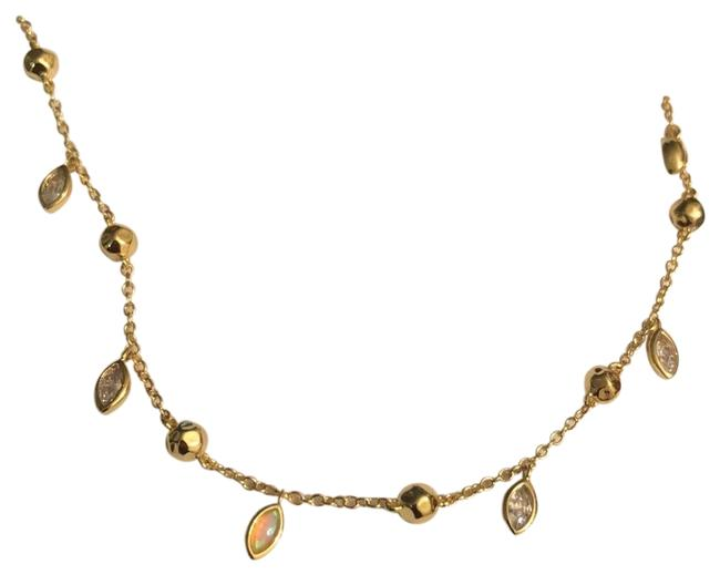 Item - Gold Crystals/Opals Charmed Necklace