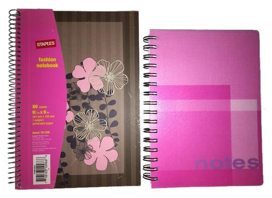 Other Decorative Perforated-Page Spiral Notebook Set [ Roxanne Anjou Closet ]