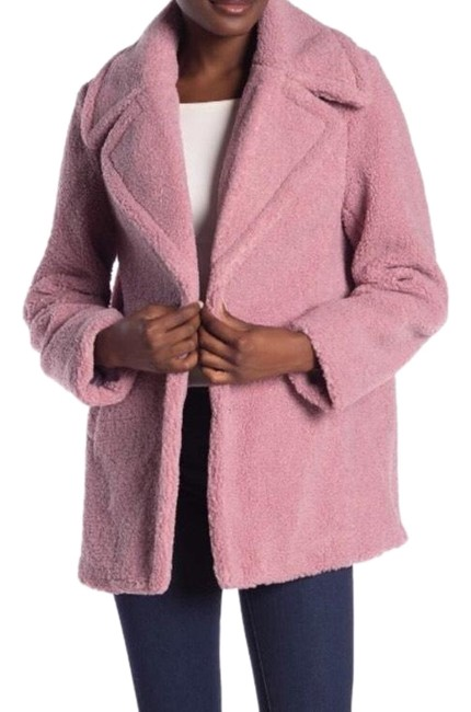 Item - Mauve Pink Faux Shearling Teddy Jacket Coat Size 12 (L)