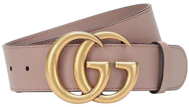 Item - Nude Blush New Thick 80 Cm Leather Gg Gold Logo Belt