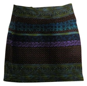 Forever 21 Tribal Mini Skirt Black