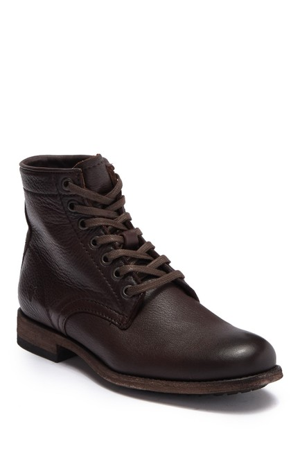 Item - Dark Brown Tyler Leather Lace Up Combat Boots/Booties Size US 9 Regular (M, B)