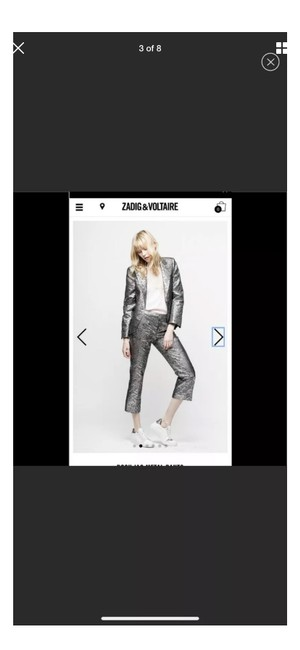 Zadig & Voltaire Capri/Cropped Pants Silver Image 2