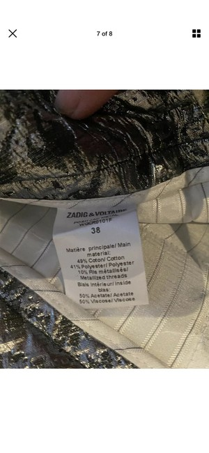 Zadig & Voltaire Capri/Cropped Pants Silver Image 6