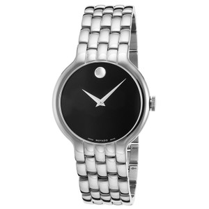 Movado MOVADO Men's Classic Black Dial Stainless Steel Watch 0606337