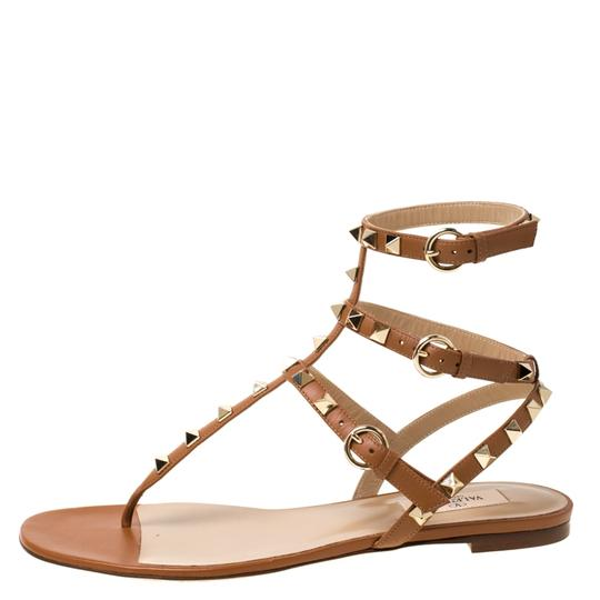 Valentino Leather Brown Sandals Image 1