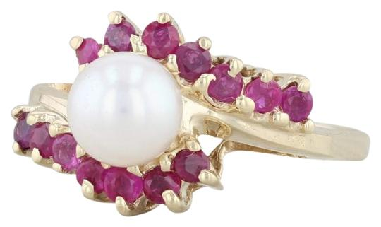 Preload https://img-static.tradesy.com/item/26872455/yellow-gold-cultured-pearl-ruby-bypass-14k-size-75-wrap-ring-0-1-540-540.jpg
