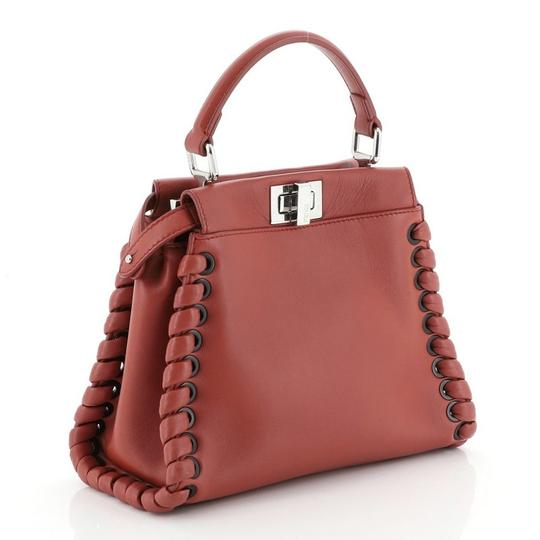 Fendi Leather Satchel in Red Image 1