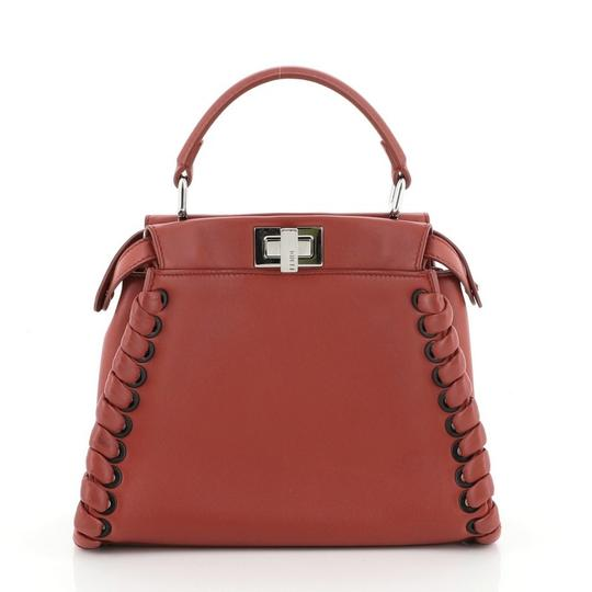 Fendi Leather Satchel in Red Image 2